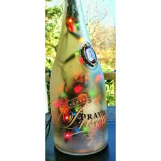 Wine bottle lamp gift for couples home bottle lamps by JAMLEEWicks