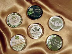 CLADDAGH IRISH Wedding Boxed Marble Glass MAGNETS by shadow090109, $2.49