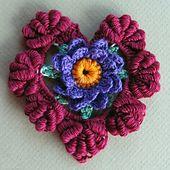 Ravelry: Floral Fantasy Valentine Heart pattern by Cheri Mancini