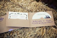 Wedding invitations in the form of a disc, means you can record your own message/play songs..very personal!
