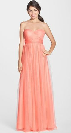 Coral bridesmaid dress - converts to 15 different looks!