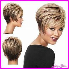 Short Hairstyles Wigs For Women Over 60 Side View | Short ...