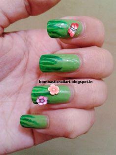 Day 4: Grassy Green Nails