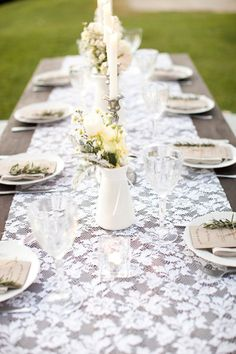 lace table runner - so romantic