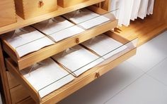 Closet Systems with Drawers | Custom Closet System by Team 7 - walk-in Wardrobe for high-end homes