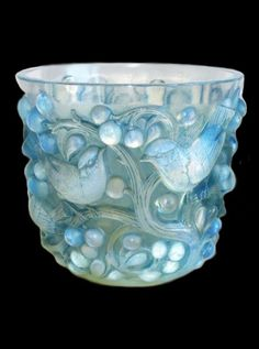 ♔ René Lalique Avallon vase 1927