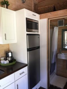 A Tiny House On Wheels With A Total Of 270 Square Feet (including Loft)