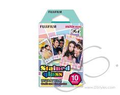 Fujifilm Instax Mini Film for Fuji Instant Film Camera - Stained Glass                http://www.dsstyles.com/product/fujifilm-instax-mini-film-for-fuji-instant-film-camera---stained-glass