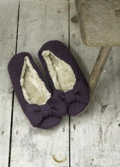 Charming damson slippers. Because there's nothing more lovely than snuggling in comfy slippers.