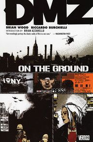 From indie comics icon Brian Wood (Demo, Channel Zero, GLOBAL FREQUENCY) and up-and-coming Italian artist Riccardo Burchielli (John Doe) comes the first volume of DMZ, collecting the first 5 issues of the series about the ultimate embedded war journalist trapped in a most unlikely war zone: the streets of New York City.