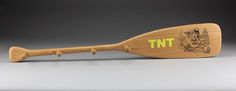 Color Printed Paddle to Cherry Wood. 4 pegs for hanging coats
