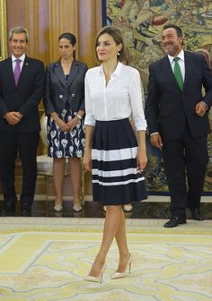 Pin for Later: Queen Letizia of Spain Just Nailed the Perfect Work Outfit For a Chilly Fall Day