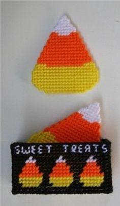 Candy Corn Coaster Set by cecrafts on Etsy, $6.50
