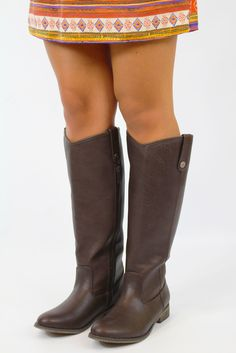 These boots look just like Frye's but for way cheaper! only $42!
