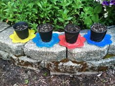 pots made from recycled tires.   www.flattireflowerpots.com