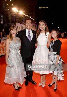 Nancy Latoszewski Michael Greyeyes Eva Greyeyes Lilia Greyeyes attend the 'Woman Walks Ahead' premiere