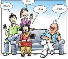 iphone, ipod, ipad, ipaid