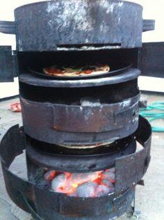 stove pizza barrel diy