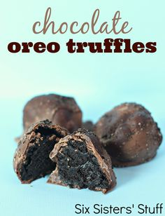 Chocolate Oreo Truffles! So easy!