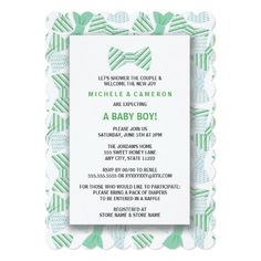BOY BOW TIE Baby Shower Invite BOWTIE BOWTIES TIES