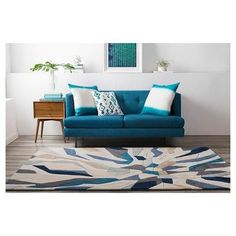 "Nabari Area Rug - Bright BlueNavy - (3'6"" x 5'6"") - , Bright Blue, Surya #AreaRugs"