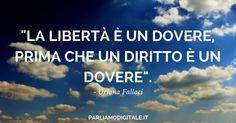 Libertà d'espressione Online - Citazione di Oriana Fallaci