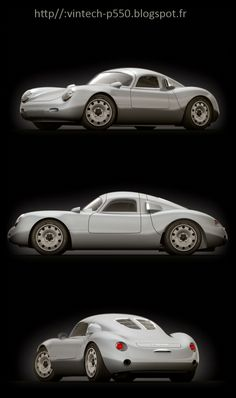 Vintech Tribute is a modern interpretation of the Porsche 550 Spyder, which is set to be officially unveiled of August 17 at Pebble Beach. Porsche 550, Porsche 356 Speedster, Porsche Models, Porsche Boxster, Porsche Cars, Porsche 2017, Porsche Carrera, Vintage Sports Cars, Classic Sports Cars