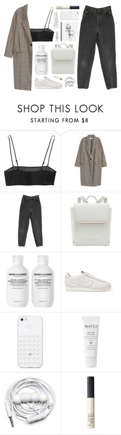 """""""lipglossin'"""" by admir-ing ❤ liked on Polyvore featuring Yves Saint Laurent, H&M, NIKE, Natio, Urbanears and NARS Cosmetics"""