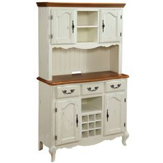 Home Styles French Countryside Buffet And Hutch Reviews Wayfair French Countrysideshot Glasskitchen Organizationcountry