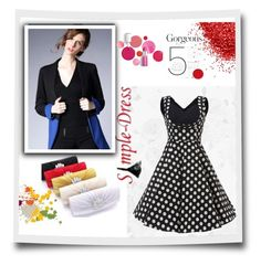 """simpledres15"" by crvenamalina ❤ liked on Polyvore featuring Clinique, vintage and simpledres"