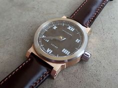 INTERIMLAMBWATCH: IL010 Single hand, 20mm lug, Bronze case