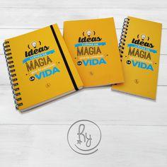 Cuadernos Tapa Dura + Anotador Alargado + Cuaderno Acaballado. IDEAS LLENAS DE MAGIA QUE TE CAMBIEN LA VIDA!! RY PRODUCTOS CON DISEÑO