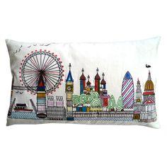London skyline pillow -- so sad it's no longer available!