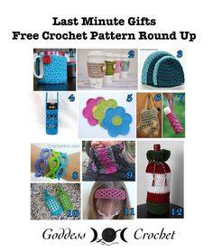 Last Minute Gifts - Free Crochet Pattern Round Up on Goddess Crochet