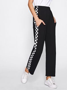 Side Checked Pants