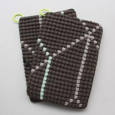 Opskrift på hæklede grydelapper med bobbelmønster / Crochet Potholders Pattern | Lutter Idyl