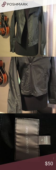Banana republic faux leather jacket Banana republic faux leather zipper jacket. Lightly warn, size small. Banana Republic Jackets & Coats