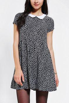 One & Only X Urban Renewal Collared Babydoll Dress