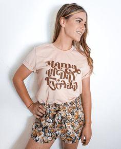 Mama All Day Everyday Retro Vintage Style Mom Shirt | Etsy