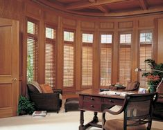 Custom Drapery Designs in Dallas, TX offers custom window treatments from Hunter Douglas, including plantation shutters, roller shades, roman shades & more! Wooden Window Shutters, Custom Shutters, Interior Window Shutters, Custom Blinds, Wood Windows, Custom Windows, Window Blinds, Hunter Douglas Shutters, House Painting Cost