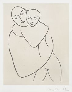 Matisse Lithograph Signed, Madonna and Child, 1950 - 1951