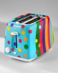 Fashiontribes: Heat Things Up with a Rainbow Bright Toaster - a . Love Rainbow, Over The Rainbow, Rainbow Colors, Cool Toasters, Fancy, Kitchen Colors, Kitchen Stuff, Kitchen Gadgets, Happy Colors