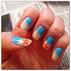 Beachy Nails, Starfish, Nail Art