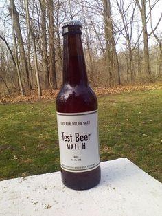 Anheuser Busch Budweiser 12oz Test Beer Bottle MXTL H White Label W/ Plain Cap