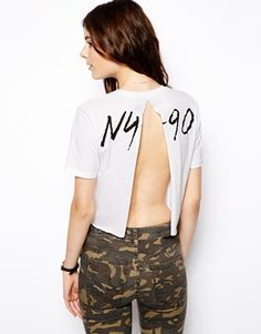 Enlarge ASOS T-Shirt with Split Back and NY 90 Print