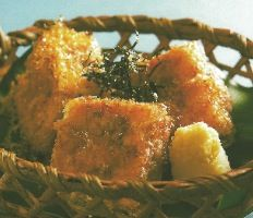 Deep-fried Bonito Flakes Tofu, AGEMONO - DEEP-FRIED, Japanese Recipe, Japanese Food Recipe