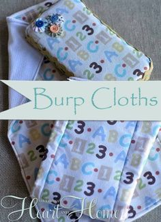Easy to Make Burp Cloths! - All Things Heart and Home #giftstomake #babygiftideas #babyshower