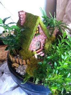 made using small flower pot