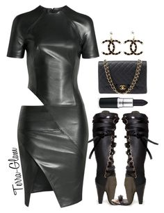 """""""My Leather So Soft"""" by terra-glam ❤ liked on Polyvore featuring Alexandre Vauthier and Chanel"""