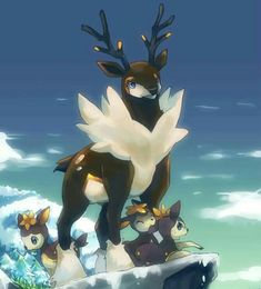 Sawsbuck and Deerling (Winter Forme)
